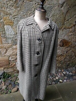 Classic Antique Burberry Prorsum Dogtooth Check Wool Coat Buckley & Nunn Large L