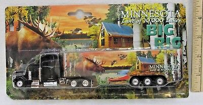 Semi Truck Toy Minnesota Souvenir Big Rig Trailer Land of 10000 Lakes Moose Loon