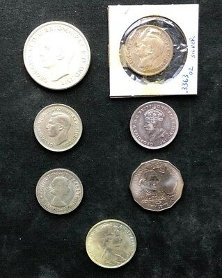 Lot of 6 Australia Silver Coin - Florin Crown 50 Cent (147)