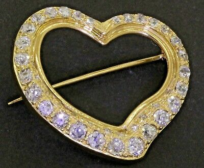18K gold lovely elegant 2.0CT VS/F-G diamond cluster heart brooch