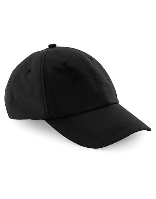 Baseball-Cap-Beechfield-B50-LOW-PROFILE-CAP-WAXED-WATERRESISTANT-ADJUSTABLE-HAT
