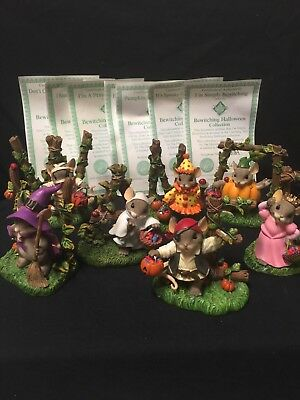 Charming Tails Bewitching Halloween Hamilton Collection. L.E. -READ DESCRIPTION