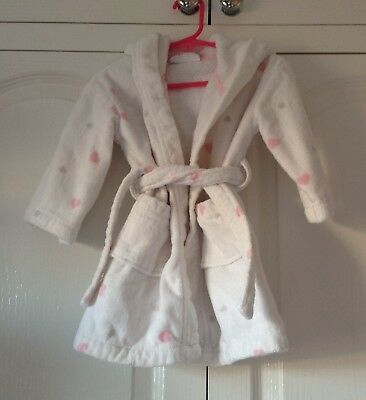 The white company baby  girls dressing gown