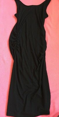Old Navy Maternity Black Jack Midi Tank Body Dress Medium Summer Staple Stretch