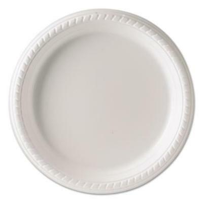 Solo Cup Company PS95W Plastic Plates, 9 Inches, White, Round, 25/pack, 20