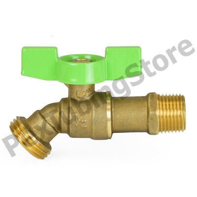"WATER OR OIL 125 PSI 100 LEAD FREE BRASS 1//2/"" MALE THREAD HOSE BIBB NOKINK"