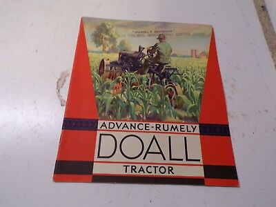 Old Original Advance Rumely Doall Tractor Sales Brochure