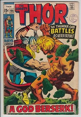 The Mighty Thor Jack Kirby  166. Features Warlock.
