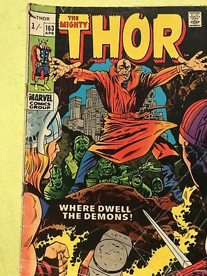 The Mighty Thor 163 Jack Kirby Bronze Age Marvel