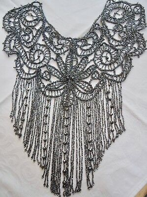 Vintage or antique large glass beaded dress embellishment in great condition
