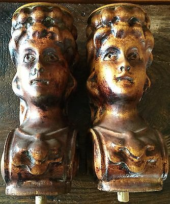 Antique Architectural Salvage Figural Angel Corbels
