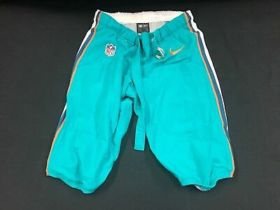 ea3bdb5c87e Miami Dolphins Team Issued game Used Teal Nike Pants 2014-2017 Season All  Sizes