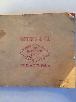 22 Sheets Of GOLD LEAF by Hastings & Co. Philadelphia