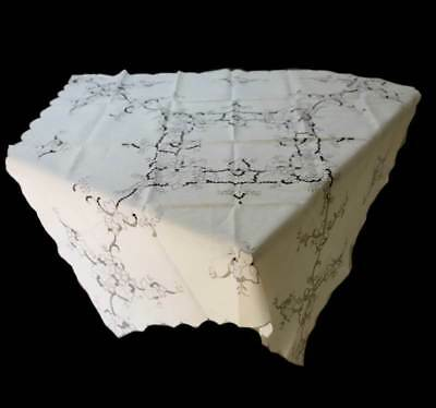 Vintage Carnival Cotton collection vine & grapes cutwork tablecloth and napkins