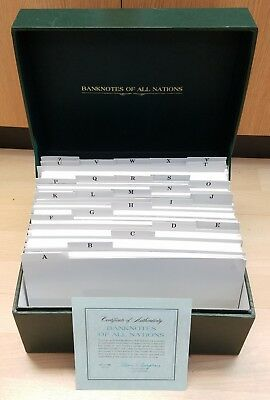 Limited Edition Franklin Mint Banknotes of All Nations Set of 151 Notes & Stamps