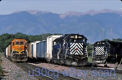 BNSF SD40-2 6829 MRL SD45 324 Logan, MT 2007 - Original slide