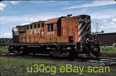 CP Canadian Pacific RS18 8747 Brownville Jct, ME 1987 - Original slide