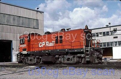 CP Canadian Pacific RS23 8028 St Luc, PQ 1993 - Original slide