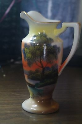 Vintage NORITAKE Hand Painted Small Creamer Pitcher with Gild Trim