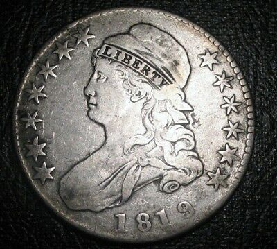 OLD US COINS 1819 CAPPED BUST SILVER HALF DOLLAR CHOICE BEAUTY, ** Free S/H!