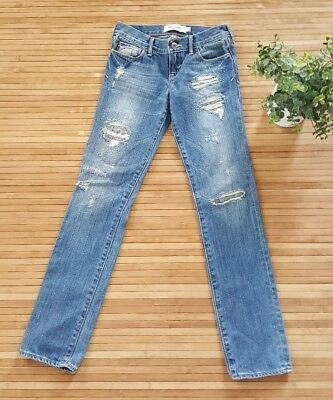 Abercrombie Girls Size 12 Jeans a&f distressed