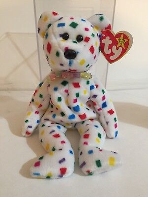 Ty 2k Beanie Baby 1999/00 RETIRED Tag Error Perfect Conditionw/ case & tag case