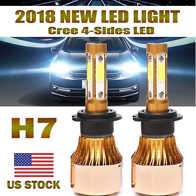 2X H7 LED Headlight Kit Super Bright 60000LM Lamp Light Bulbs for Hyundai Sonata