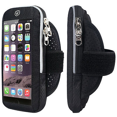 For Galaxy S9 S8 iPhone X 8 Plus 7 6 Sport Armband Running Gym Case Cover Holder