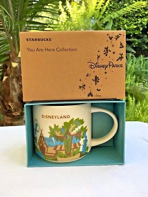 "Disney Parks 2018 Disneyland & Starbucks ""Adventureland"" YOU ARE HERE Mug 14 oz"