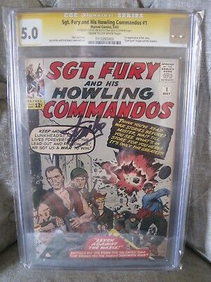 Sgt Fury and His Howling Commandos #1 CGC 5.0 Signed by Stan Lee 1st Nick Fury!