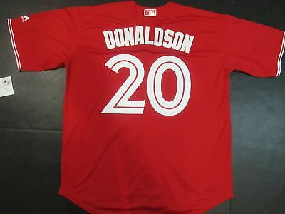 New Josh Donaldson #20 Toronto Blue Jays Cool Base Collection Mens Jersey Red
