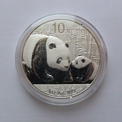 2011 Chinese Solid Silver Panda 1oz Bullion Coin (Encapsulated by the Mint)