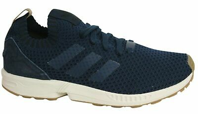 ADIDAS ZX FLUX Lace Up White Knitted Textile Mens Trainers