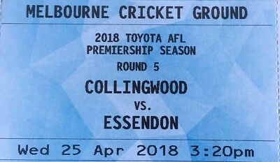 COLLINGWOOD  V ESSENDON ~ ANZAC DAY AFL TICKETS ~ Level 1