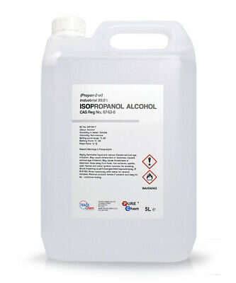 Ipa Isopropyl Alcohol Isopropanol 5 Litre 99.9% - Wide Range Of Uses!!