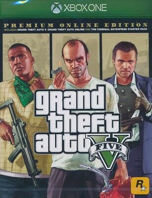 Grand Theft Auto 5 Premium Online Edition Xbox One GTA V - Neu