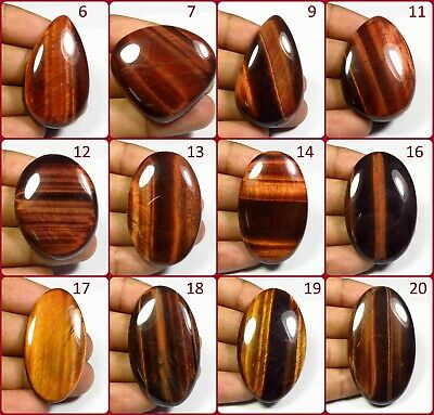 Red Tiger Eye Cabochon Loose Aaa+ Natural Chatoyant Gemstone Free Shipping Il-A