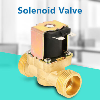 """DC12V G3/4"""" Normally Closed Brass Electric Solenoid Water Valve Fast Install Hot"""