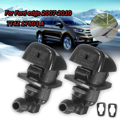 2Pcs Car Windshield Washer Spray Nozzle Jet 7T4Z 17603 A For Ford Edge 07-10
