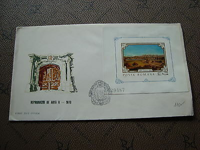 ROMANIA envelope 15/12/70 - Stamp Yvert and Tellier bloc n°82 (cy2)
