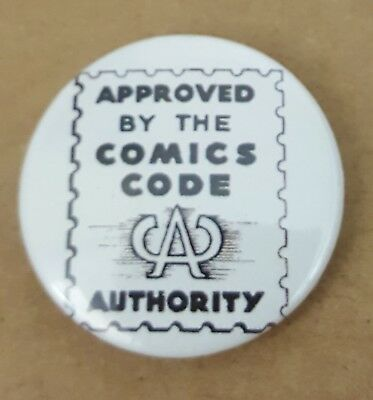 Comics Code Authority  Pin Back Badge