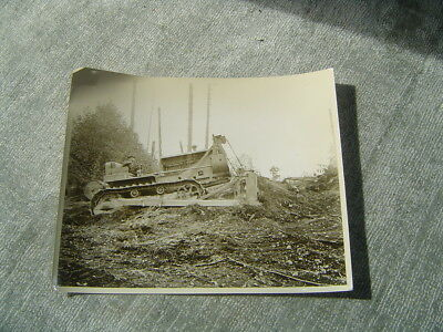 PHOTO Caterpillar  tractor real photo logging operations