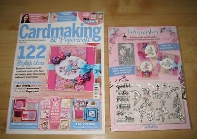 Cardmaking & Papercraft magazine 182 May 2018 + fairy stamps/die gift NEW