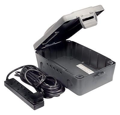 Waterproof Outdoor Weatherproof Box with Sockets Extension Lead Cords Materials