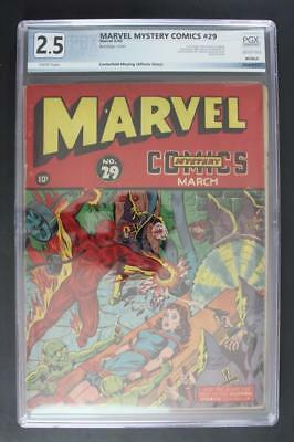 Marvel Mystery Comics #29 - PGX 2.5 GD+ Incomplete - TIMELY 1942 - Human Torch!