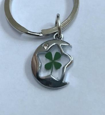magic real four leaf clover keychain Jewelry