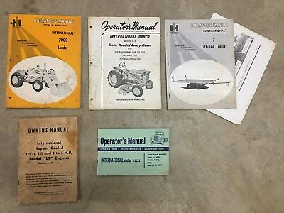 International Harvester Operator Manuals 2000 Loader C-3 Mower Trailer LB Hopper
