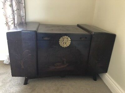 Chinese Camphor Wood Chest And Table