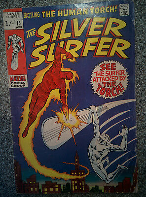 Silver Surfer #15 featuring The Torch - Marvel Comics 1970