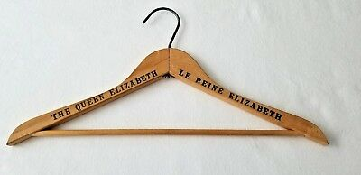 Vintage Clothes Hanger Wood From The Queen Elizabeth Hotel Montreal 1958